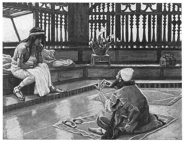Joseph Converses with Judah, his Brother  Painted by J. James Tissot