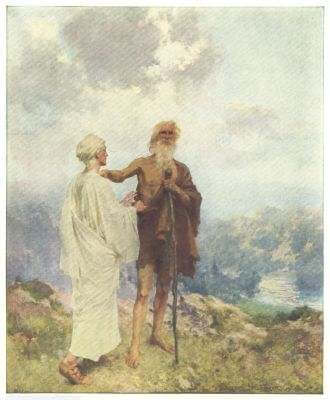 The Parting of Elijah and Elisha  Painted by W. T. Taylor