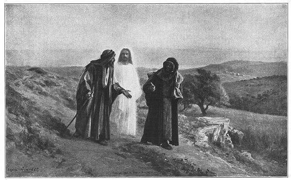 The Walk to Emmaus  Painted by Eugène Girardet